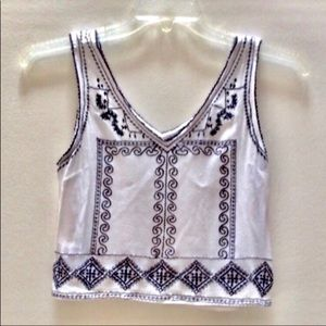 💵 Forever 21 Sleeveless V neck Crop Top Sz  Small
